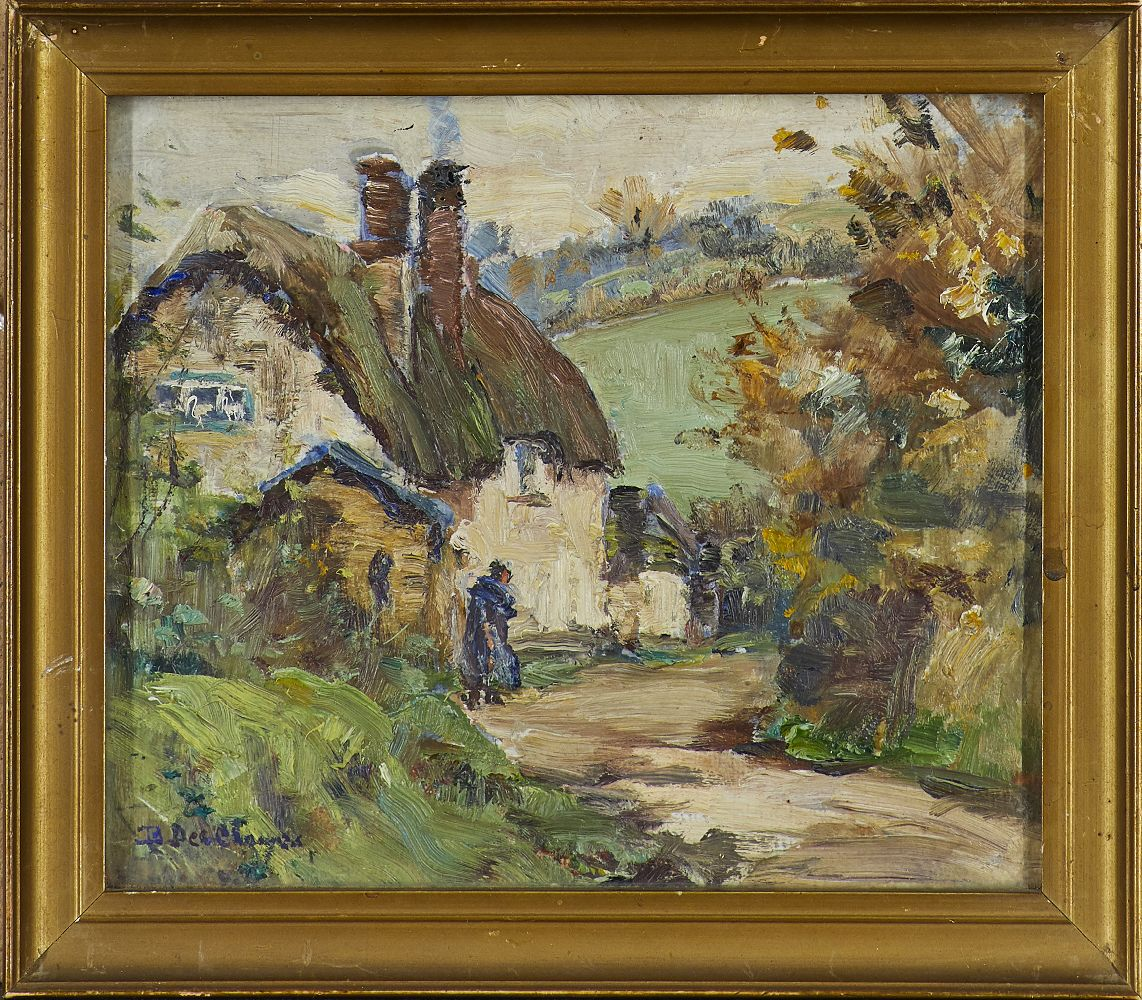 Berthe Des Clayes, British/Canadian 1890-1968- Country Lane; oil on canvas laid down on board, - Image 2 of 3