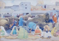 Alexander Graham Munro RSW, Scottish 1903-1985- Rabat, 1927; watercolour and pencil, signed and