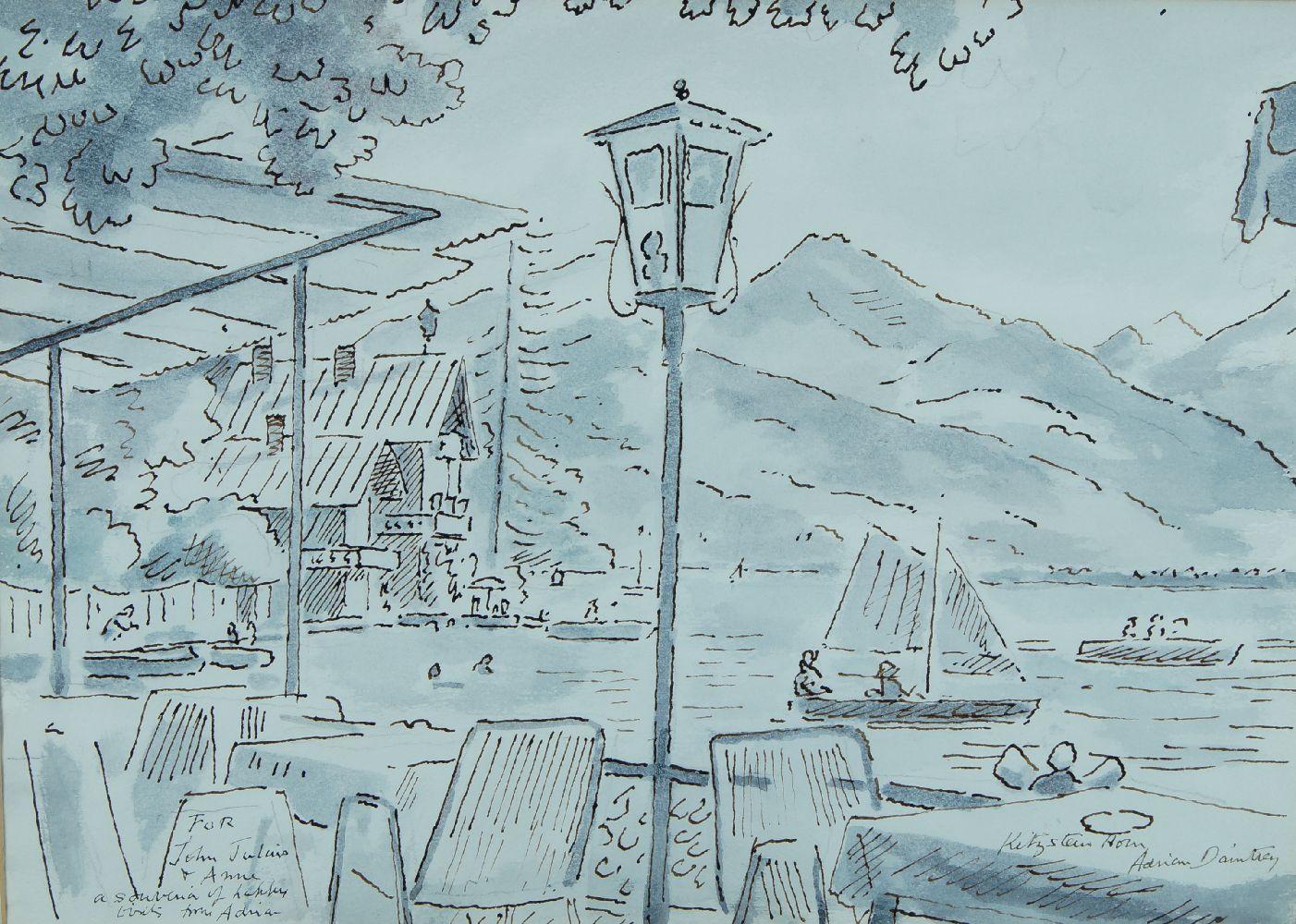 Adrian Maurice Daintrey RWA, British 1902-1988- Kitzsteinhorn; pen and black ink and wash, signed,