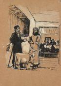 Meer Axelrod, Russian 1902-1970- Illustration for Sholom-Aleykhem (1859-1916) The Enchanted