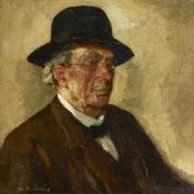 Scandinavian/American School, early 20th century- Portrait of a man; oil on canvas, signed,