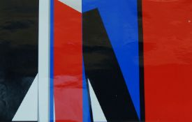 Contemporary European School, late 20th century- Untitled; screenprint in colours on wove, signed