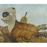 Gordon Drysdale, British, mid-20th century- Leafscape; oil on canvas, signed, bears inscribed