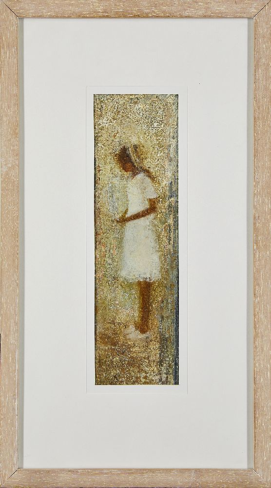 S. A. Armitage, British School, 21st century- Portrait of a girl; mixed media, signed and dated