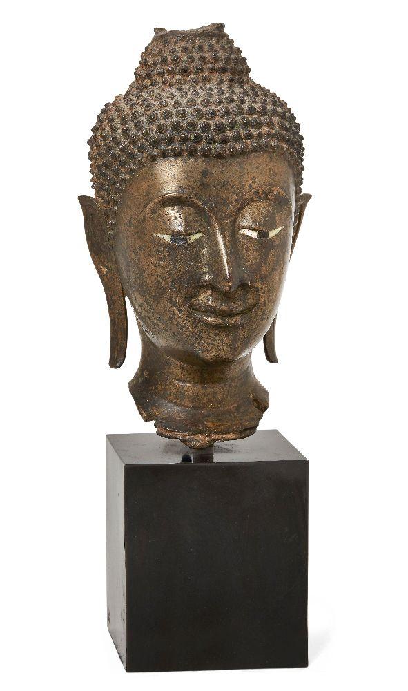 Property of a Gentleman (lots 36-85) A large bronze head of Buddha Shakyamuni, 17th/18th century,