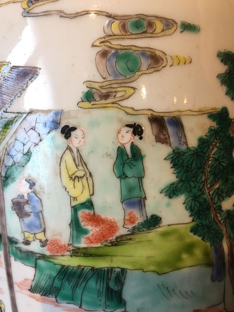 A Chinese porcelain 'silk production' rouleau vase, late Qing dynasty/ Republic period, painted in - Image 7 of 28