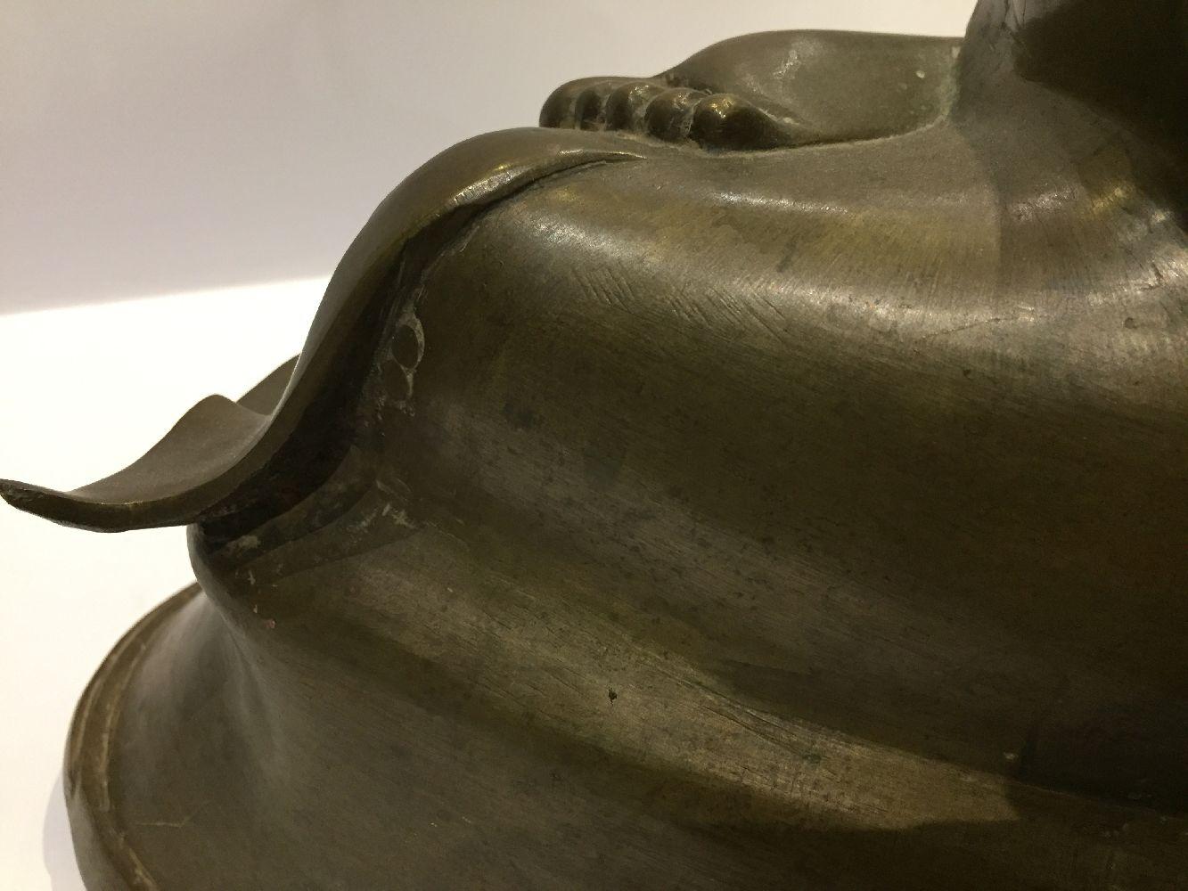 A Burmese bronze figure of Buddha, Mandalay period, 19th century, finely cast seated in vajrasana, - Image 19 of 28