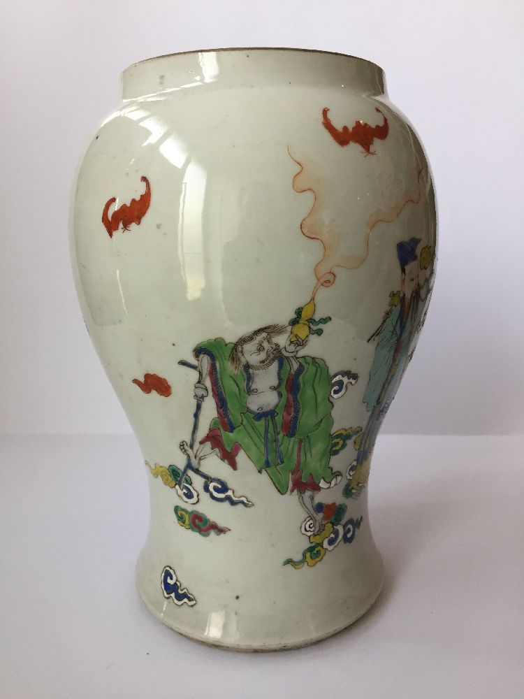 A pair of Chinese porcelain vases, Yongzheng period, painted in famille rose enamels with five of - Image 14 of 14