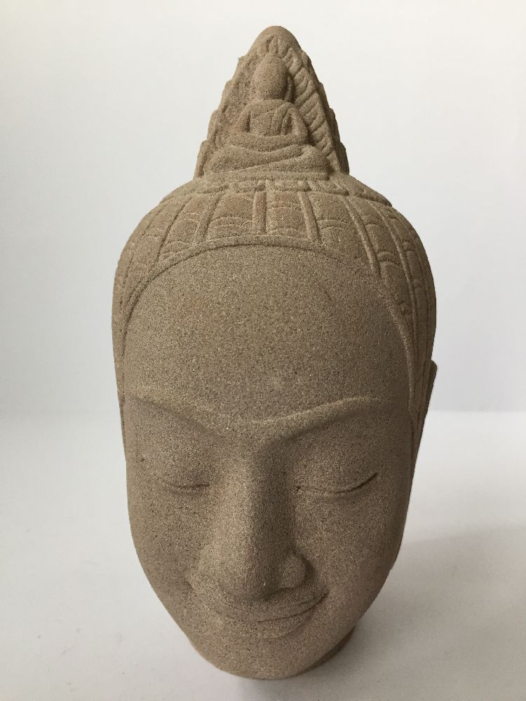 A Thai bronze head of Buddha, 17th/18th century, cast with flame finial above the ushnisha and - Image 7 of 10