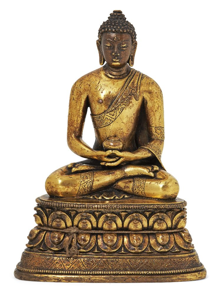 Property of a Gentleman (lots 36-85) A Mongolian gilt-bronze figure of Amitabha Buddha, 18th