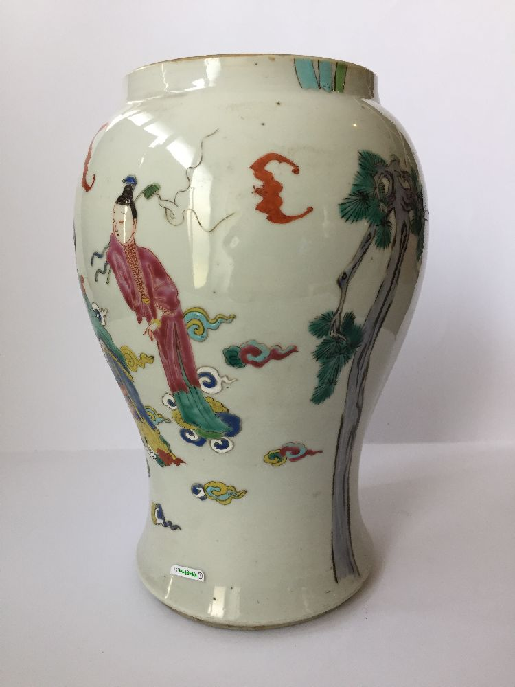 A pair of Chinese porcelain vases, Yongzheng period, painted in famille rose enamels with five of - Image 11 of 14