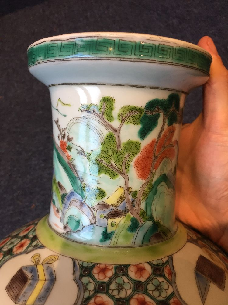 A Chinese porcelain 'silk production' rouleau vase, late Qing dynasty/ Republic period, painted in - Image 2 of 28