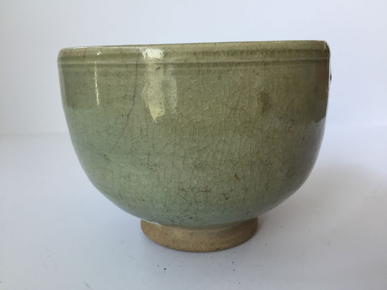 Three Thai Sawankhalok bowls, 15th-16th century, each covered in a celadon glaze, two with fluted - Image 21 of 27