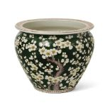 A Vietnamese porcelain jardiniere, early 20th century, painted with blossoming prunus branches, 20cm