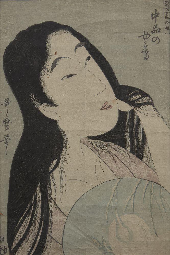 Kitagawa Utamaro, Japace c.1753-1806, A Wife of the Middle Rank, Meiji reprinting, woodblock print