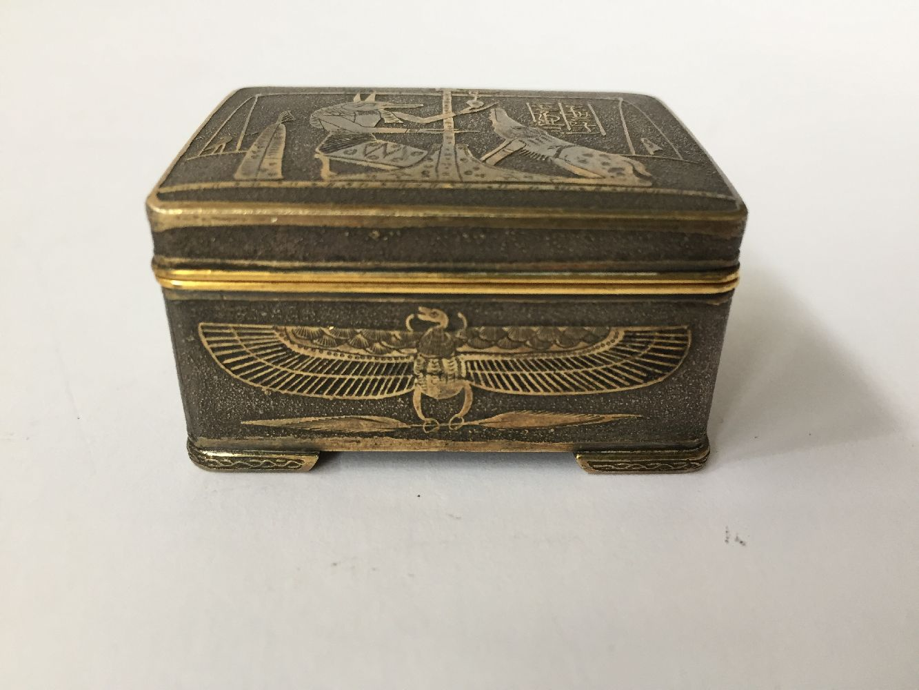 Two Komai style small pill boxes, late 19th early 20th century, one decorated with bamboo to - Image 7 of 12