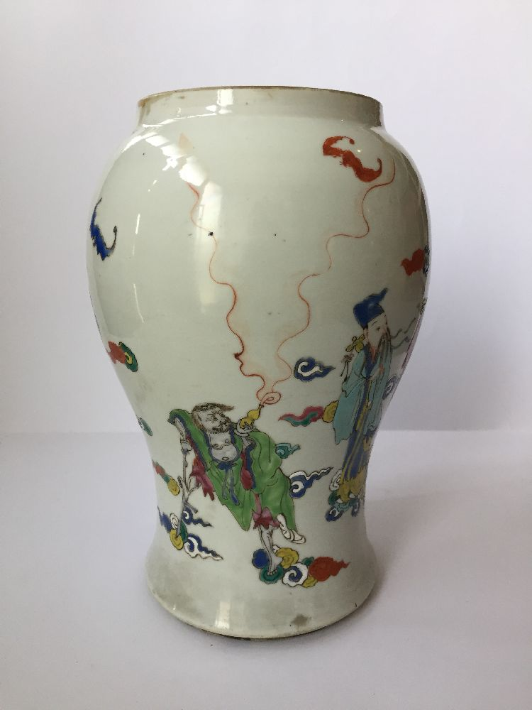 A pair of Chinese porcelain vases, Yongzheng period, painted in famille rose enamels with five of - Image 7 of 14