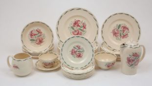 Susie Cooper (1902-1995), a Dresden spray pattern earthenware part dinner and coffee service,