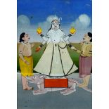 An painting of the Makara, Guardian of gateways and thresholds, Rajasthan, India, 19th century,