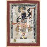 A portrait of Srinathji, Goavrdhan, 19th century, opaque pigments on paper, 18.3 x 13.1cm