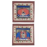 Two devotional images of Srinathji, Central India, 19th century, opaque pigments on paper, approx.