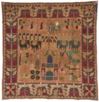 A KanpuriTemple Hanging, Uttar Pradesh, India, early 20th century, with cotton applique and