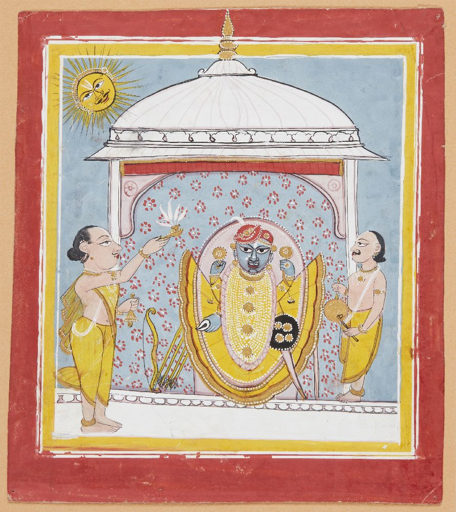 A Jain painting of Tirthankara, India, early 19th century, opaque pigments on paper heightened
