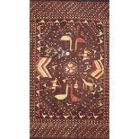A Phulkari wedding shawl, Punjab, India, circa 1900, cotton and floss silk, either end and borders