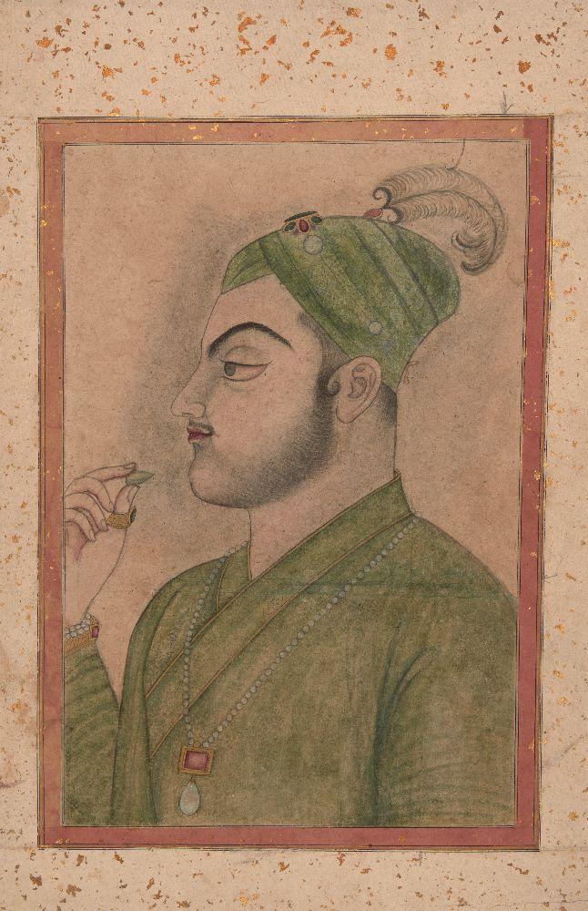 A large portrait of Muhammad Azam Shah (r. 14 March 1707 - 8 June 1707), Kishangargh school, early