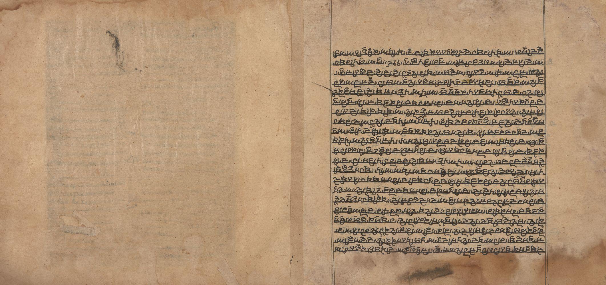 A large folio from a dispersed Janamsakhi manuscript depicting a fictitious meeting between Guru - Image 3 of 3