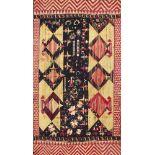 A Phulkari wedding shawl, Punjab, India, circa 1900, cotton and floss silk, either end with a