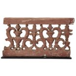 A carved and pierced double-sided sandstone balustrade fragment, Agra, India, period of Shah Jahan