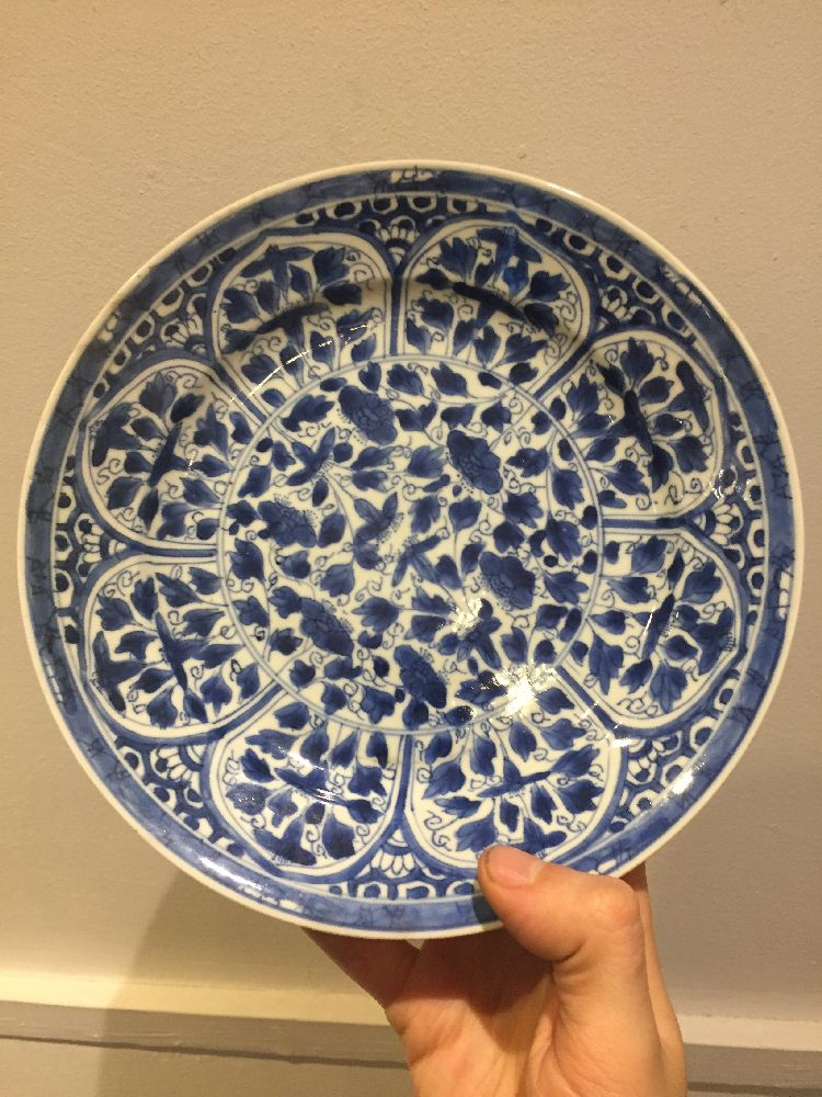 WITHDRAWN. Three Chinese porcelain dishes, Kangxi period, painted in underglaze blue with central - Image 19 of 35