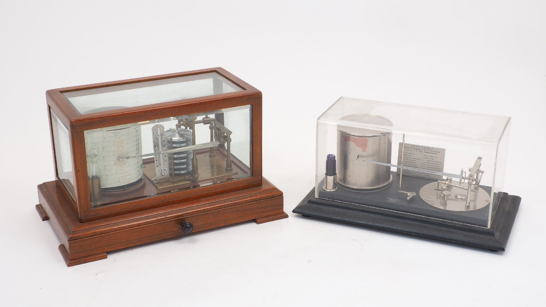 Two barographs, 20th century, comprising: one by Short & Mason of London, no. 15761, on an