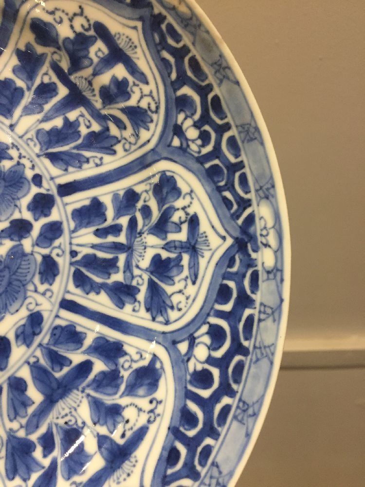 WITHDRAWN. Three Chinese porcelain dishes, Kangxi period, painted in underglaze blue with central - Image 30 of 35