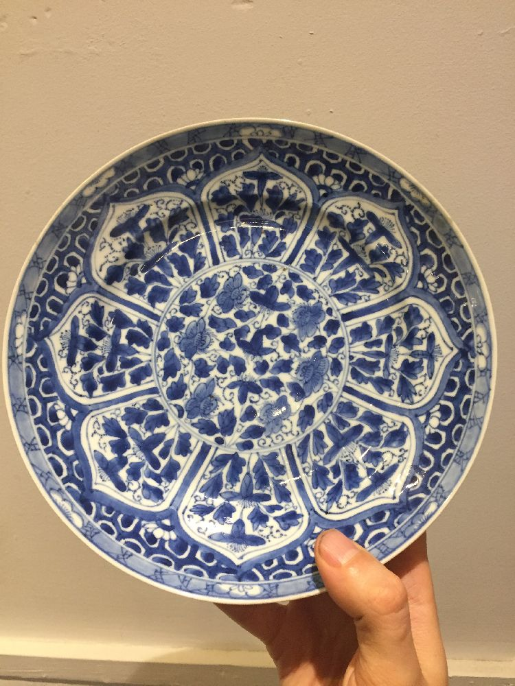 WITHDRAWN. Three Chinese porcelain dishes, Kangxi period, painted in underglaze blue with central - Image 29 of 35