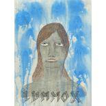Ed Templeton, American b.1972- Lummox; mixed media on paper, sheet 29 x 21cm (framed) Please refer