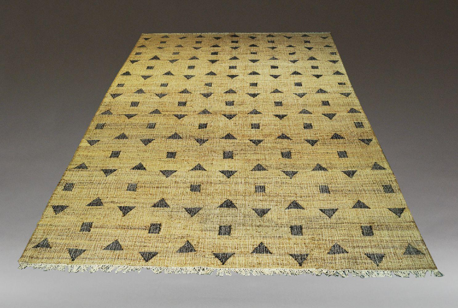 Athena Jute Hand Woven carpet, 372cm x 276cm, together with a smaller Jute rug 308cm x 248cm (2)