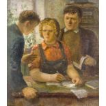 Ivan Diomidovich Chashnikov, Russian 1888-1971- At the Workers' School, circa 1930; oil on canvas,