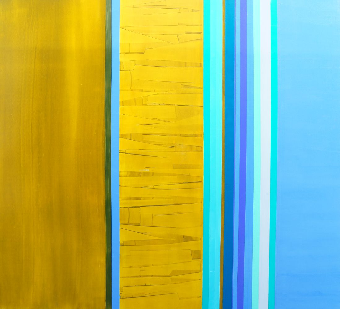 Katherine Palmers-Needham, British b.1970- Untitled abstracts; oil and acrylic on panel, six, each - Image 3 of 3