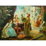 J Z Baker, European School, early 21st Century- Middle-eastern scene; oil on canvas, signed,