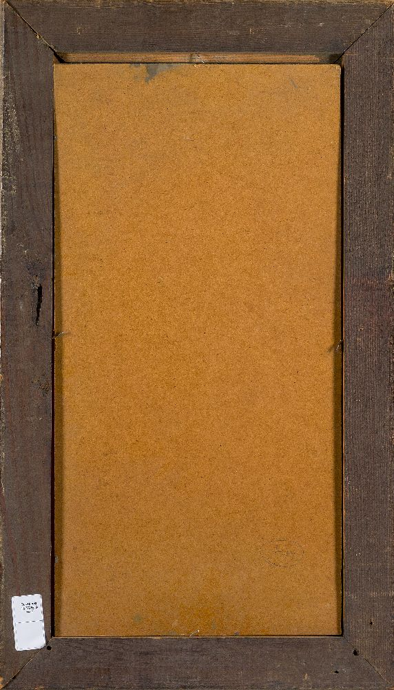 Siegried Alva, German 1901-1973- Untitled, circa 1950; oil on board, signed lower right, 60x31cm ( - Image 3 of 3