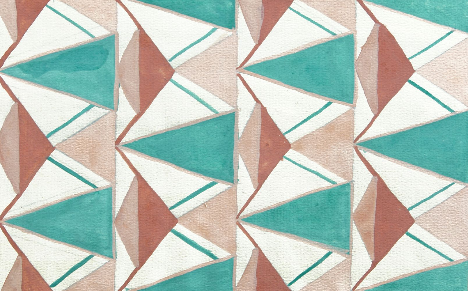 Genevieve Moreau, French School, early 20th century- Untitled abstract patterns; gouache, three, two - Image 3 of 3