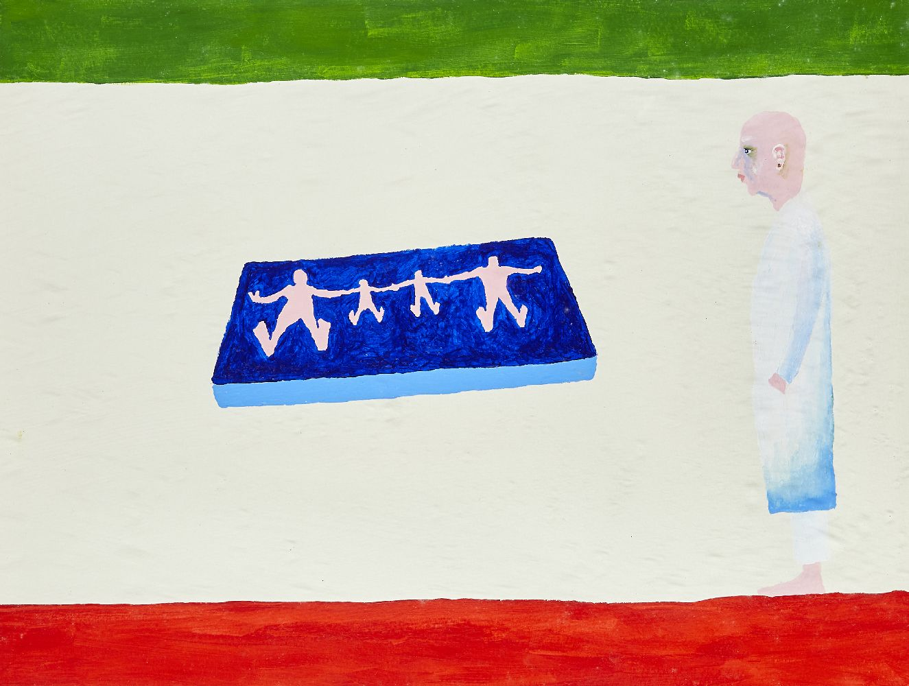 Bertold Stallmach, Swiss b.1984- Sick Family at the Doctor's Place, 2009; mixed media on paper,