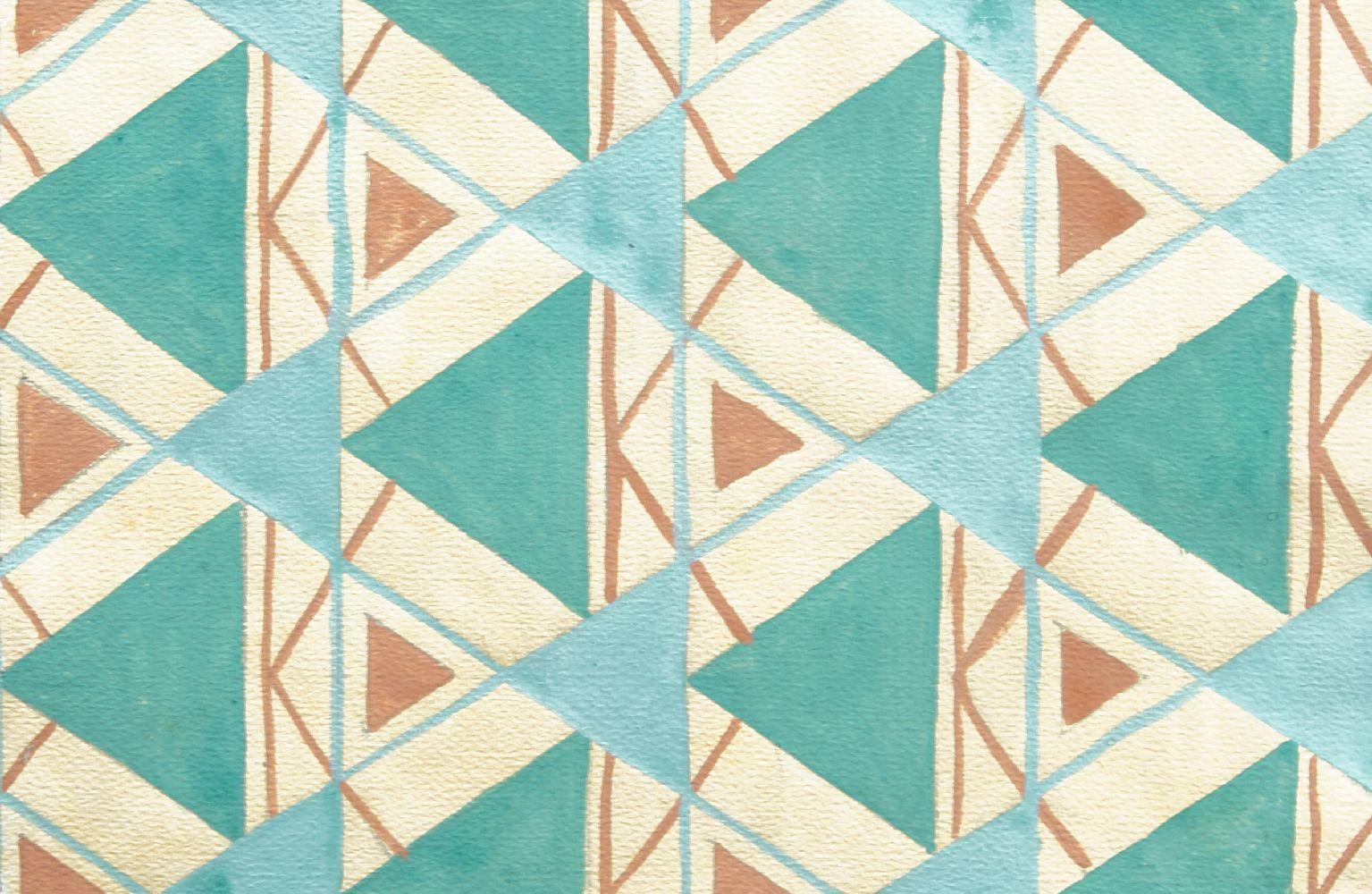 Genevieve Moreau, French School, early 20th century- Untitled abstract patterns; gouache, three, two - Image 2 of 3