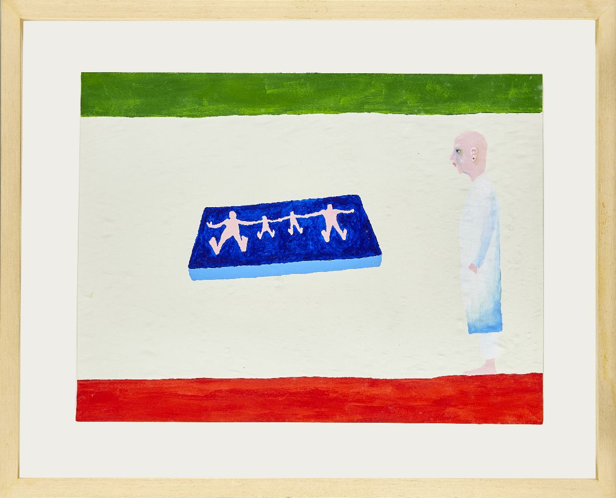 Bertold Stallmach, Swiss b.1984- Sick Family at the Doctor's Place, 2009; mixed media on paper, - Image 2 of 2
