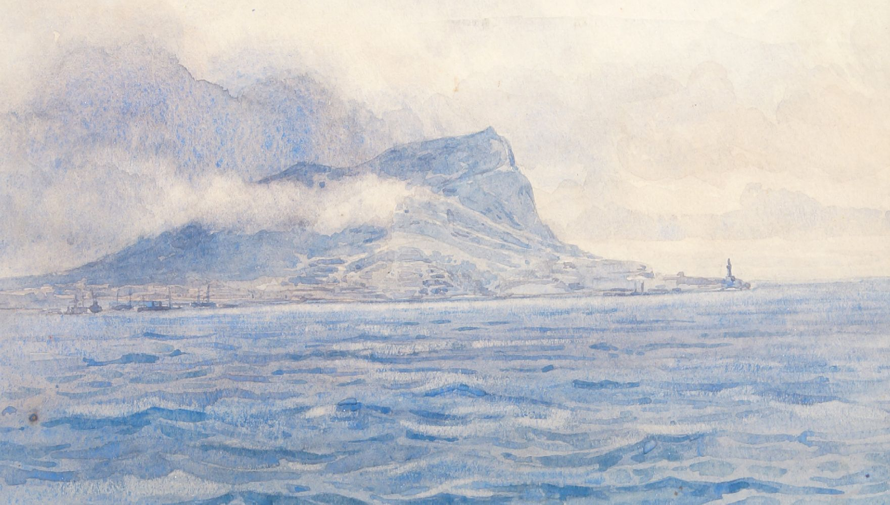 British School, early 20th century- Gibraltar; watercolour, titled, 14.3x24cm Please refer to