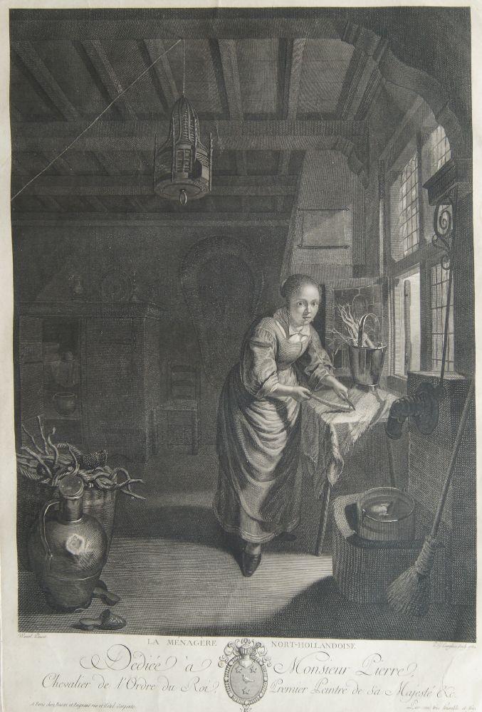 Benoît Audran Snr, French 1661-1721- Le Centaure Nesse Enleve de Janire, after Guido Reni; - Image 4 of 4