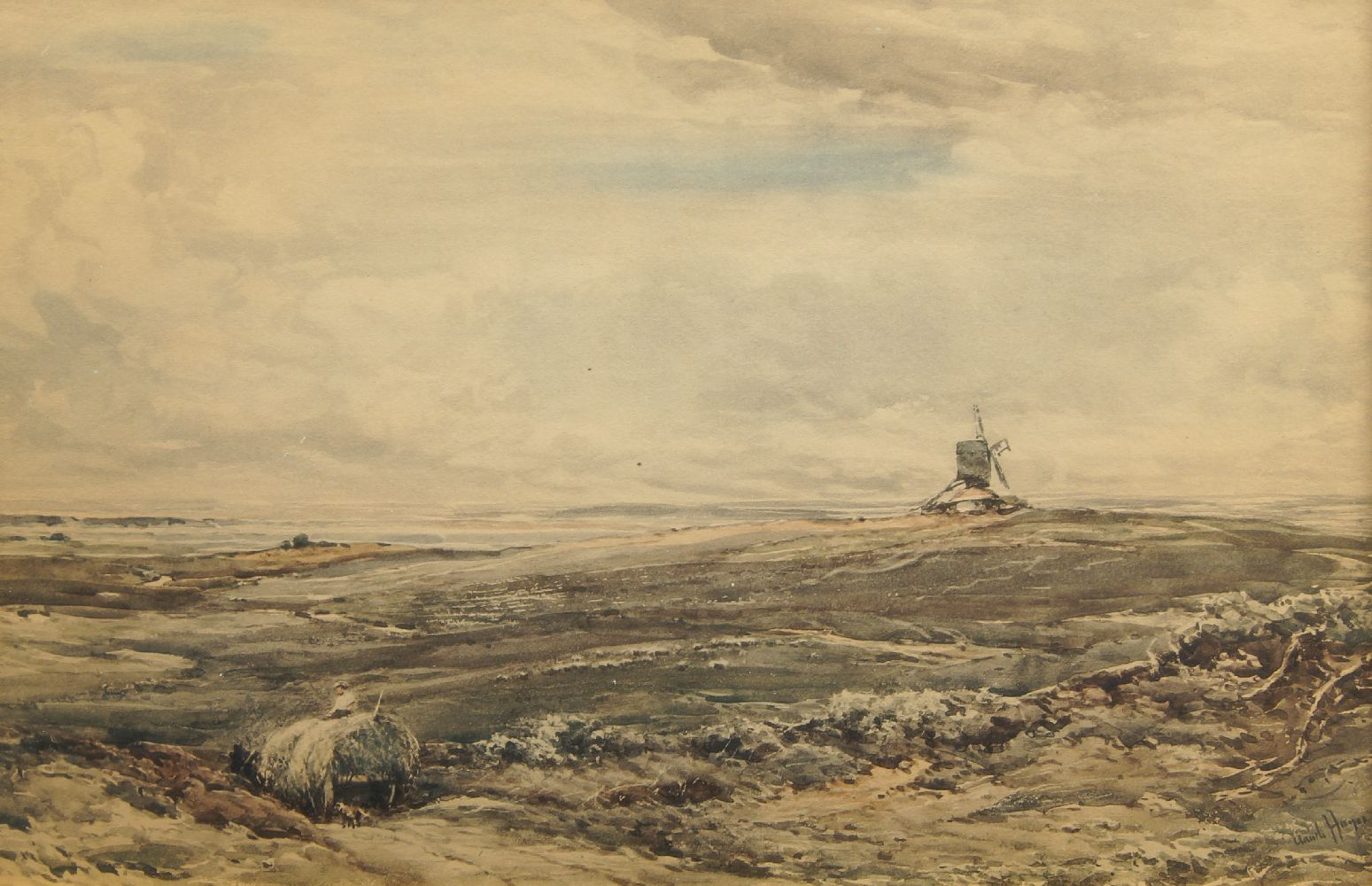After Claude Hayes RI ROI, Irish 1852-1921- On Wareham Common; collotype in colours, signed within