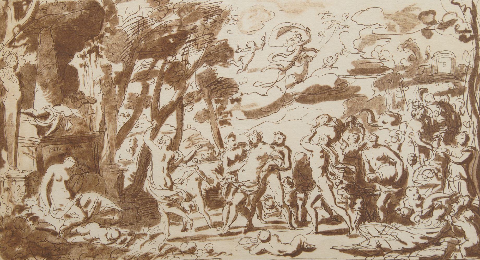 William Wynne Ryland, British 1738-1783- Jupiter and Juno, after Baccio Bandinelli; etching - Image 2 of 2